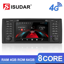 Isudar H53 1 Din Android Auto Radio For BMW/E39/X5/E53 Octa Core RAM 4GB ROM 64GB GPS Car Multimedia System DSP DVD DVR Camera все цены