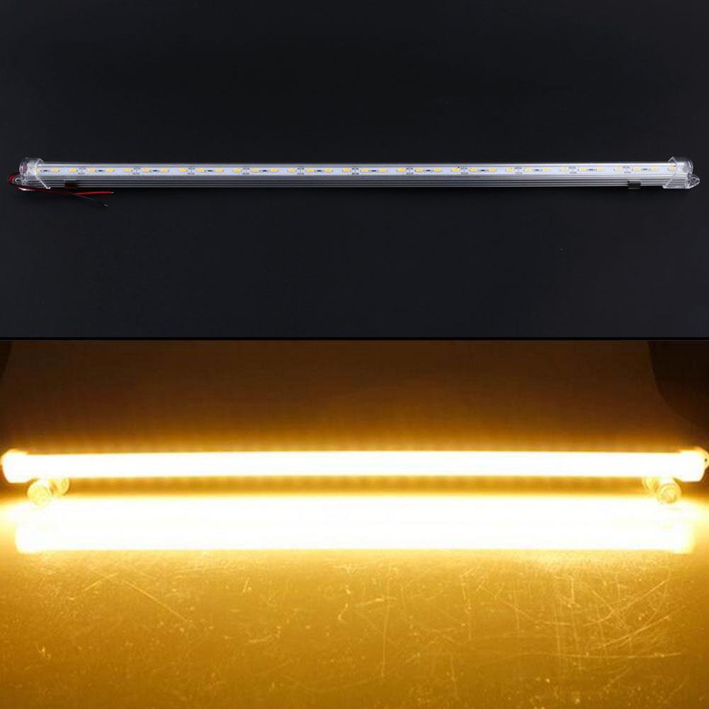 LED Strip Light 36LED Home Warm White 50CM 5630SMD Strips Cover Case Bar 12V Bright Aluminum Rigid Industrial End Cap Lamp