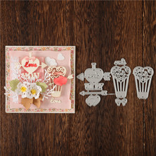 DiyArts Love Heart Metal Cutting Dies Hot Air Balloon DIY Etched Dies Craft Paper Card Making Scrapbooking Embossing New монитор samsung u28e590d glossy