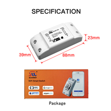 DIY WiFi Smart Light Switch Universal Breaker TimerWireless Remote Control Works with Alexa Google Home IFTTT Smart Home cheap MoesHouse ROHS Plastic 2 Years MS-101 Neutral+Live wire AC 110V-250V 50-60Hz 1800W IEEE802 11b G N WEP WPA-PSK WPA2-PSK