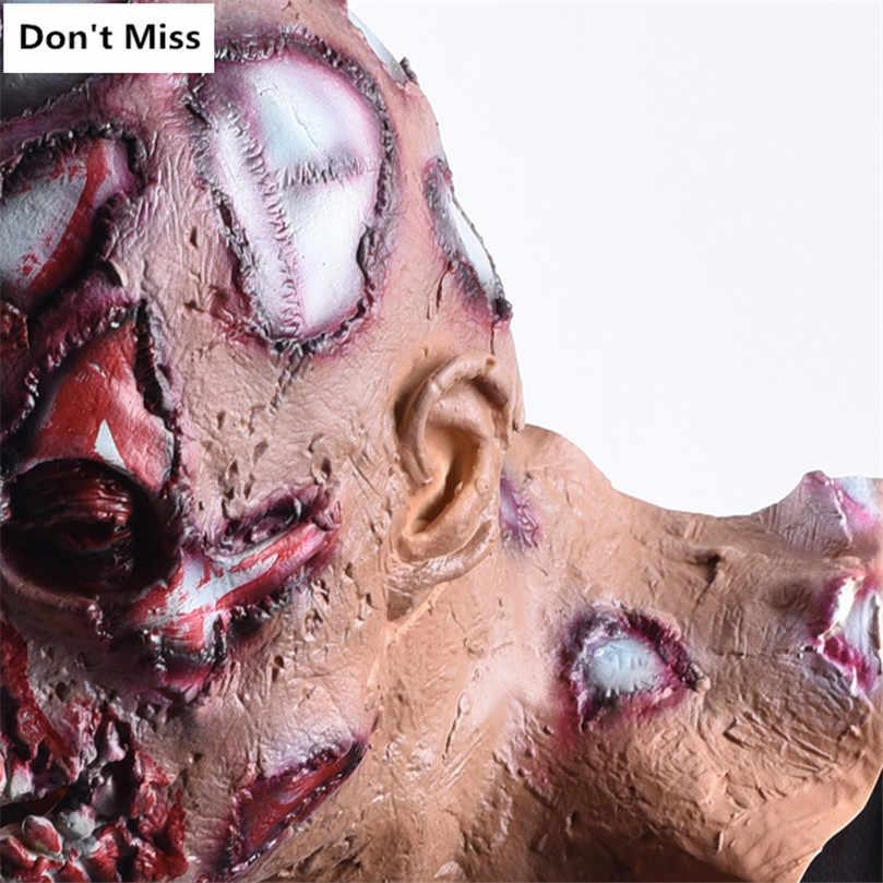 Decorazione di Halloween Puntelli Maschera Realistica Creepy Sanguinante Maschere per il Partito Cosplay Mascara De Payaso De Terrore Pieno Viso Copricapo
