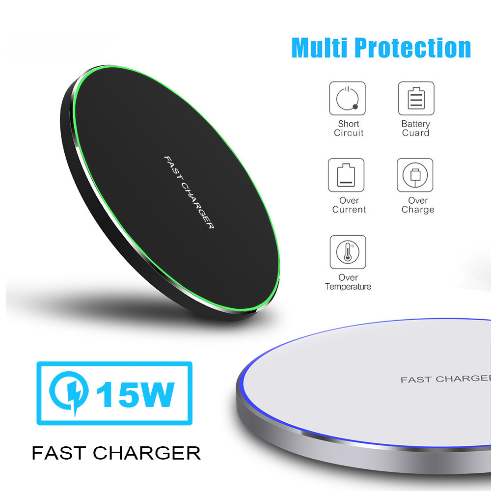 10/15W Fast Wireless <font><b>Charger</b></font> for Samsung <font><b>Galaxy</b></font> S10 <font><b>S9</b></font> / <font><b>S9</b></font> + S8 Note 10 USB Qi Charging Pad for iPhone 11 Pro XS Max XR Plus image