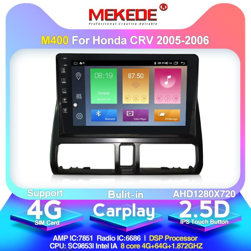 MEKEDE M400 2 Din Car Multimedia Player For Honda CRV 2005 2006 GPS Navigation Built In IPS DSP 2.5D Screen