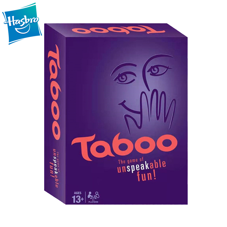 Hasbro Taboo Game Funny Guess Word Card Board Game Party Family Interactive English Games For Adults