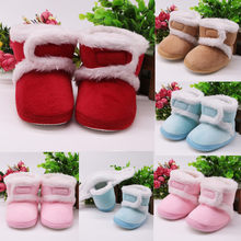 MUQGEW Newest Unisex First Walker Infant Newborn Baby Girls Cashmere Plush Comfy Winter Boots New Arrivals Bandage Warm Shoes(China)