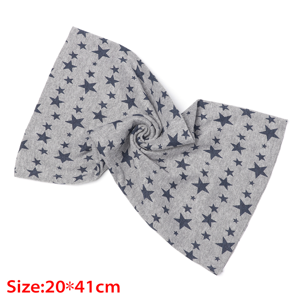 Windproof Stars Printed Snood Children Cotton Scarf Neck Collar Warmer