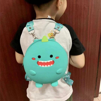 Mini Backpack Kids Soft Silicone Shoulder Bag For Children Girls Boys Multi-Function Small Bagpack Female Ladies School Backpack fengdong brand fashion black mini backpack for girls school bags children backpacks kids bag cute small backpack female bagpack