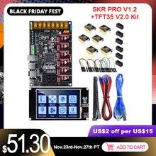 BIGTREETECH SKR PRO V1.2 제어 보드 TFT35 터치 스크린 + 6PCS TMC2209 TMC2208 UART 3D 프린터 부품 VS MKS GEN SKR V1.4 Turbo
