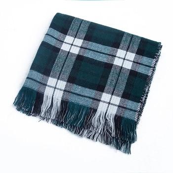[FEILEDIS] 2020 luxury Plaid Winter Scarf Women Warm Foulard Solid Scarves Fashion Casual Scarfs Cashmere FD1001 6