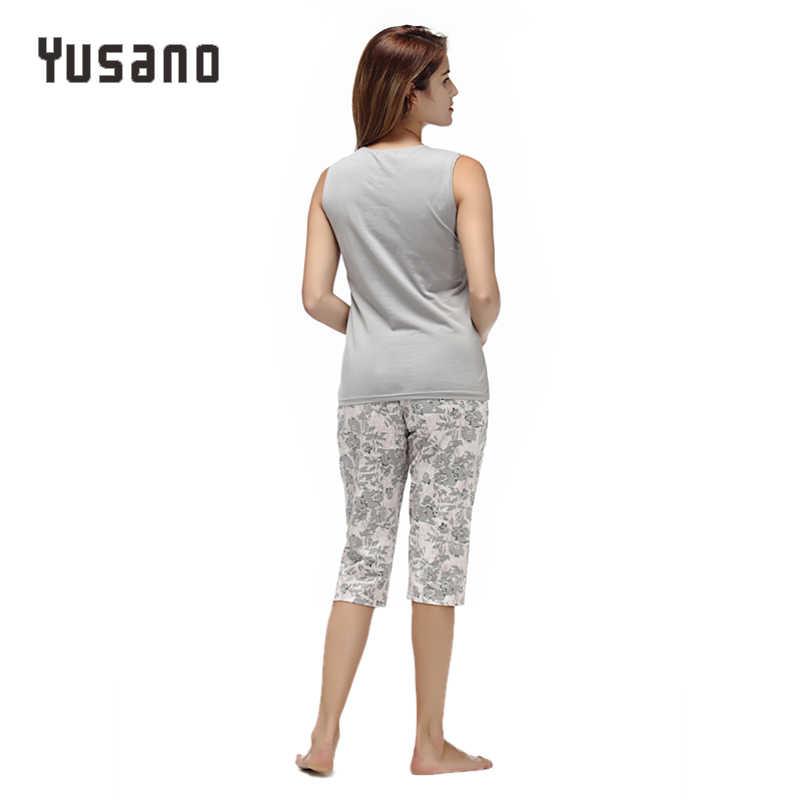 Nữ Pyjama Set Cotton Bộ Đồ Ngủ Bộ Thu Quần Short Áo Pyjamas Hoa Pijama Nữ Đồ Ngủ Dài Váy Ngủ Nữ