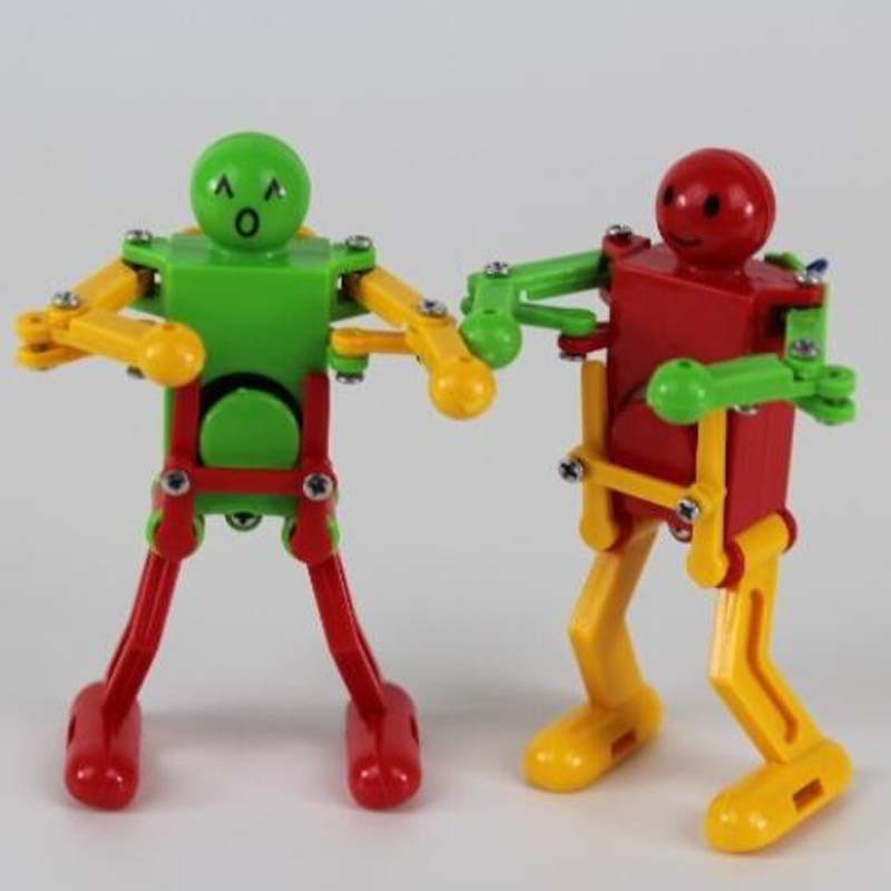 Winding Dancing Robot Spring Small Toys Foreign Trade Cross-Mirror Small Toys Night Market Stall Supply Of Goods Wholesale