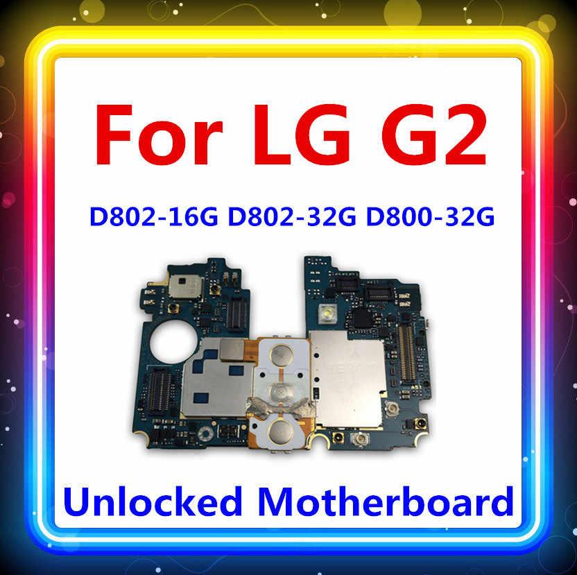 Android Dibuka untuk Luntuk LG G2 D802 D800 Papan Utama 16 GB/32 GB dengan Chip Mainboard Seluruh Lengkap Logika papan Kerja Yang Baik