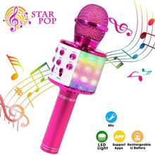 Micrófono inalámbrico profesional con Bluetooth, dispositivo de Karaoke portátil, USB, Mini KTV para el hogar, reproductor de música, grabador para cantar