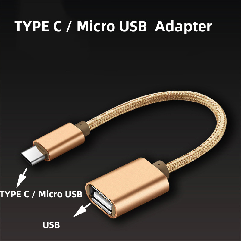 3colors 15cm Micro USB OTG Cable Type C OTG Cable Gaming OTG Adapter Cellphone Game Mouse Keyboard Connector For Samsung Xiaomi