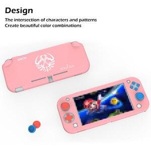 Image 2 - Силиконовый чехол для nintendo Switch Lite, розовый милый цветной чехол, задняя крышка для nintendo Switch Lite, аксессуары для игровой консоли