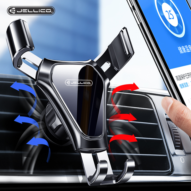Jellico Gravity Car Phone Holder Air Vent Clip Mount Mobile Phone Stand Holder In Car For IPhone Samsung Car Cell Phone Holder