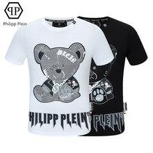 Philipp Plein-marque T-shirt de la mode dessin animé diamant décontracté manches courtes T-shirt mode Américaine Européenne haut T-shirts