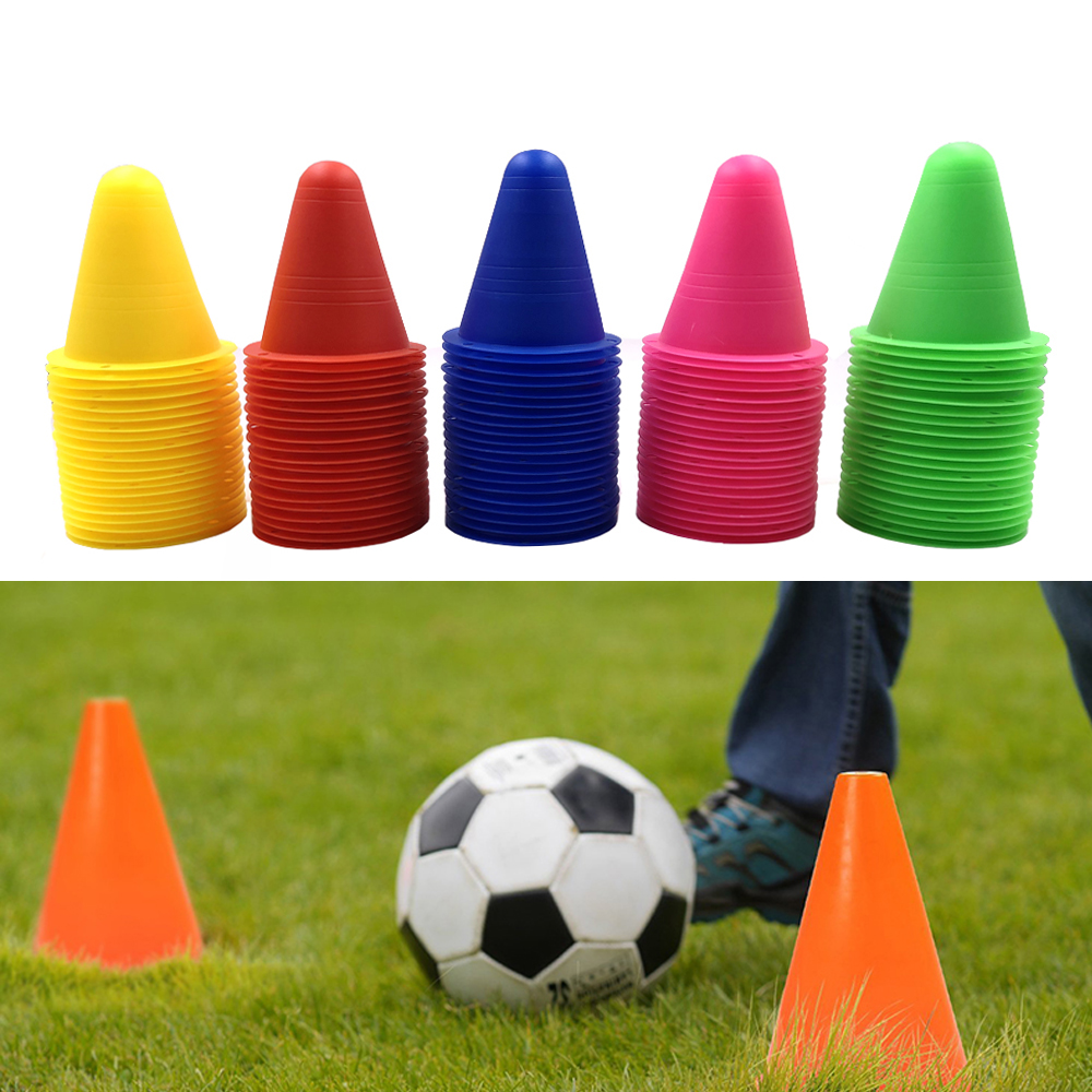 5Pcs Inline Skating Skateboard Mark Cup Soccer Rugby Speed Training Equipment Space Marker Cones Slalom Roller Skate Pile Cup