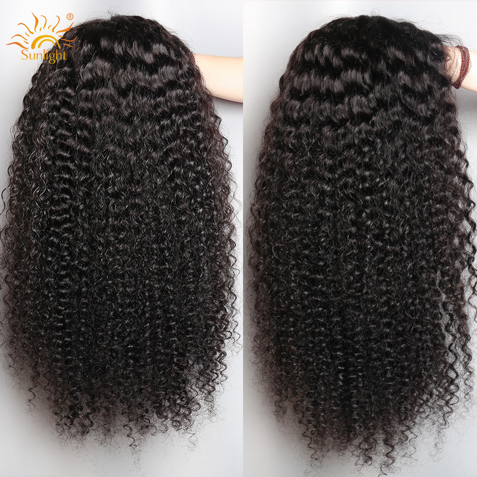 13x4 Malaysian Deep Wave Wig Lace Front Wig With Baby Hair Pre Plucked Lace Wigs For Women Sunlight Remy human hair wigs
