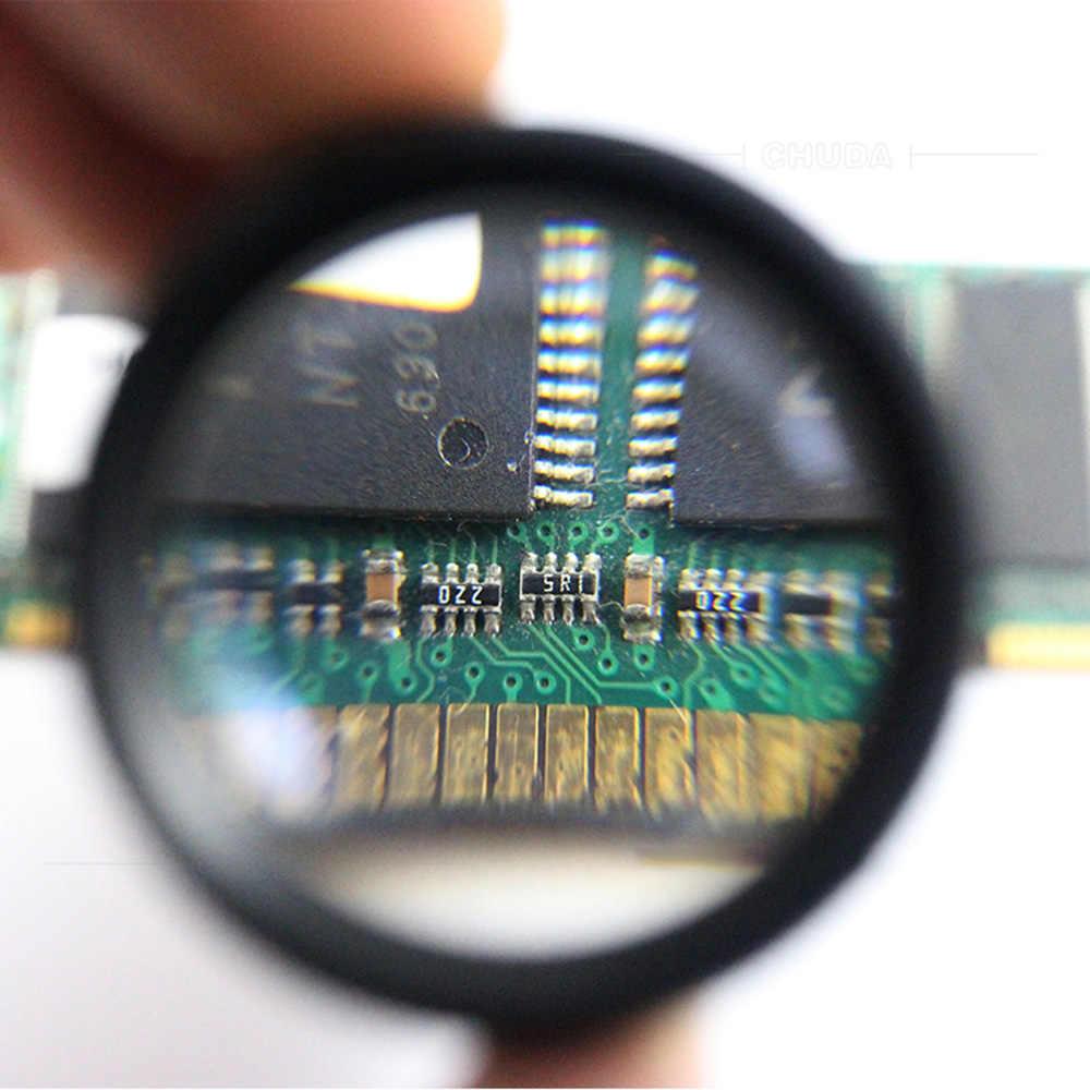 30X36 мм HD увеличительное стекло Оптическое стекло объектив лупа мини Карманная Лупа Ручной для монет марки ювелирных изделий Лупа