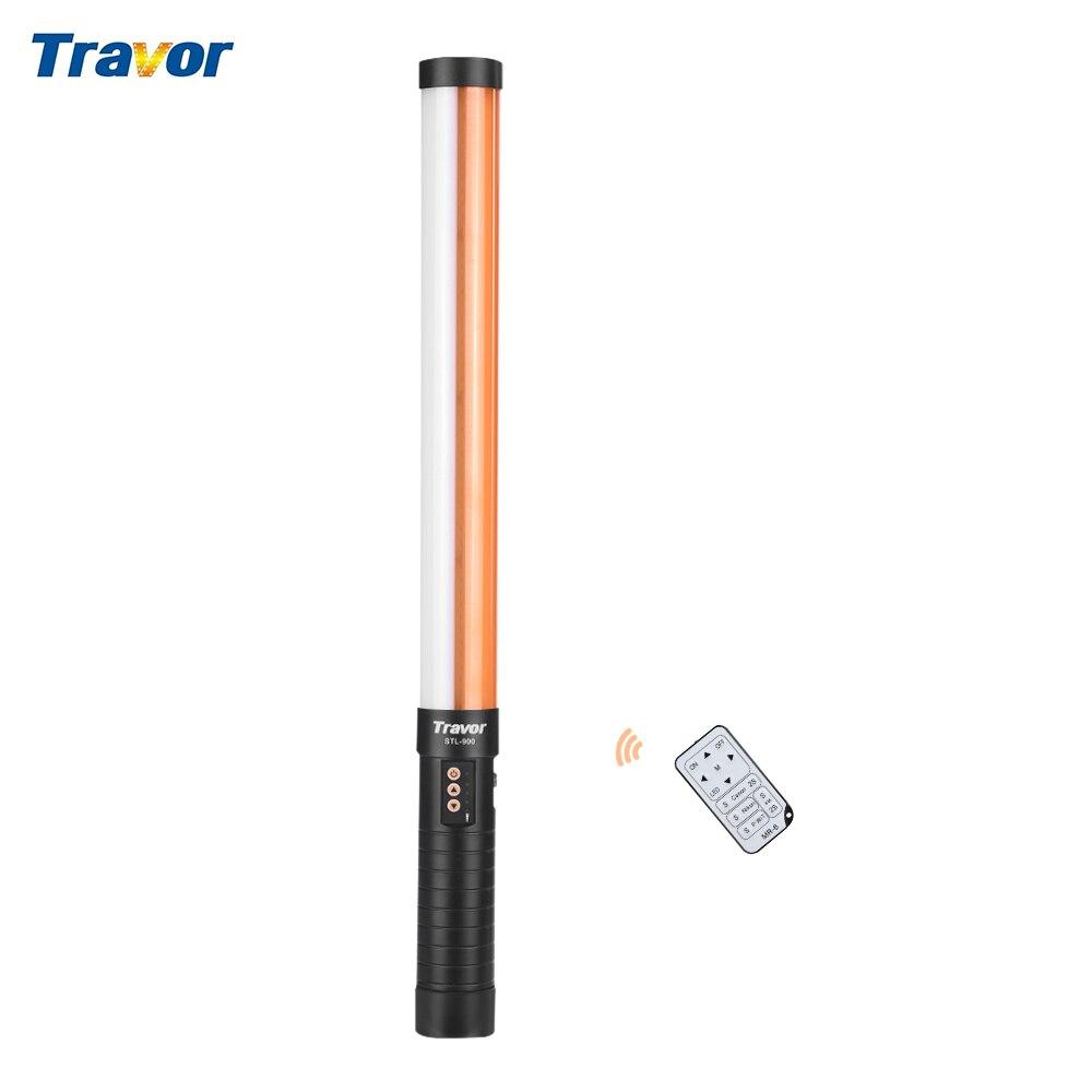 Travor STL 900 портативный ручной светодиодный светильник для видеосъемки светильник ing 3200 K/5600 K светильник Magic Tube светильник CRI90 US Plug