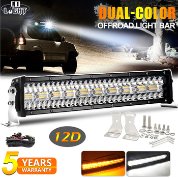 CO LIGHT 12D Car Led Light Bar 3-Row Strobe Led Bar Offroad 3500K 6500K Combo Beam Led Driving Work Barra Lights for UAZ ATV SUV co light 12d 3 row car led light bar combo 32 405w led work light for tractor truck atv jeep led bar offroad auto driving light