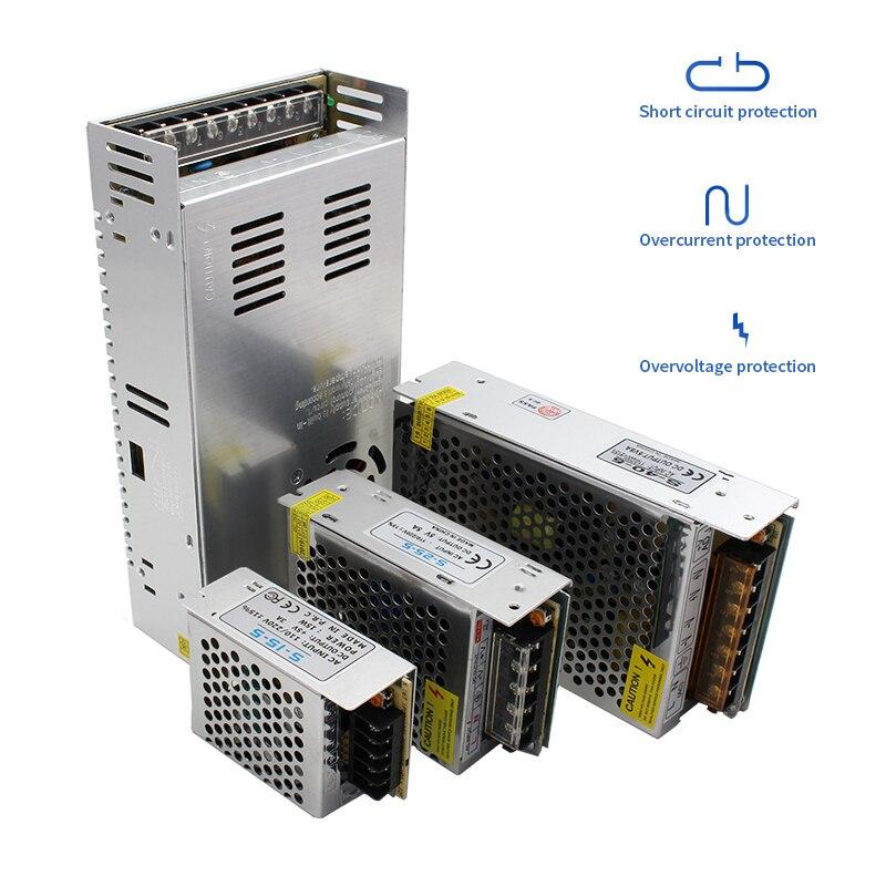 Alimentation 12V 24V Power Supply 1A 2A 3A 5A 6.5A 8.5A 10A 15A 16.5A 20A 30A Lighting Transformer 220V To 12 24 Volt LED Driver