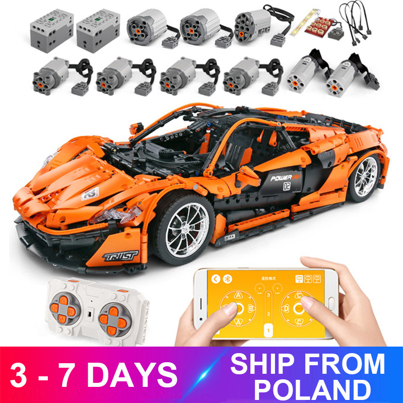 Mouldking 13090 APP RC Car Model Compatible 20087 Building Blocks Bricks Motor Function Educational Toys Kid Birthdays Gifts