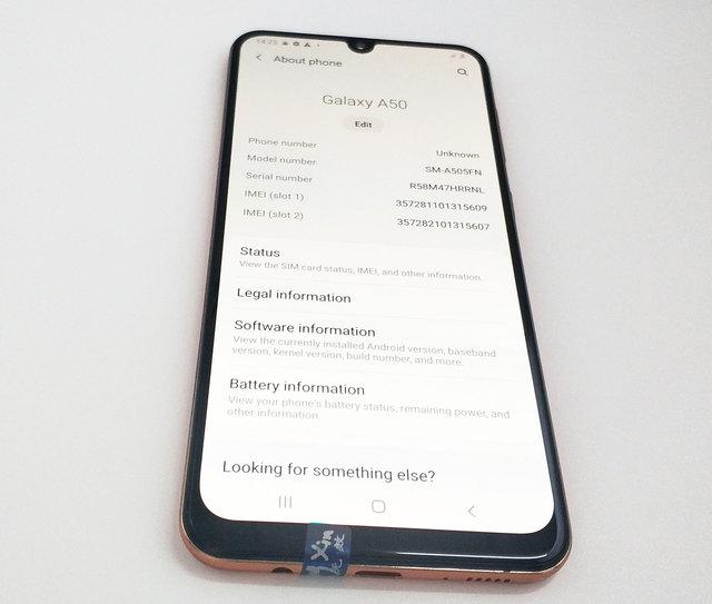 Refurbished Unlocked Cell Phone Samsung Galaxy A50 6.4inch  4GB+64GB/128GB Single/Dual Sim Octa Core 10nm Exynos 9610 6