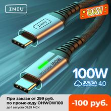 INIU 100W USB C na USB typ C kabel PD 5A szybka ładowarka do telefonu USB-C przewód do Huawei Samsung S20 Xiaomi Macbook iPad Pro tanie tanio Rohs TYPE-C CN (pochodzenie) Ze wskaźnikiem LED USB C to Type C 100W 60W PD Cable USB C to USB C Cable 0 5m (1 6ft) 1m (3 3ft) 2m (6 6ft)