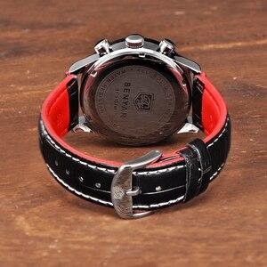 Image 5 - BENYAR Luxury Brand Men Analog Digital Leather Sports Watches Mens Army Military Watch Man Quartz Clock Relogio Masculino
