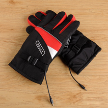 1 Pair Electric Heating Gloves Thermal Heated Gloves For Men And Women Five-Finger Winter Hand Motorcycle No Battery все цены