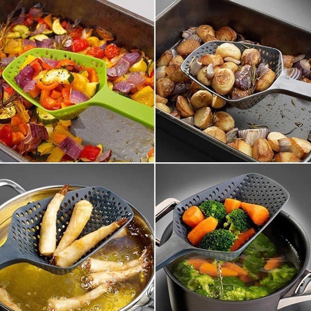 شوربة تصفية الطبخ مجرفة مصفاة الخضار مغرفة النايلون ملعقة مقاومة للحرارة العالية ضغط مصفاة المطبخ أداة A30823