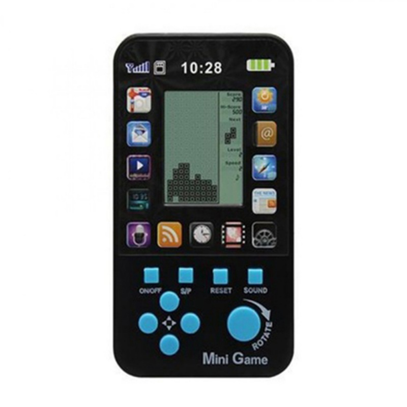 Kids Toys Classic Small Tetris Handheld Game Console Kids Electronic Pocket Toys Baby Boys Toys