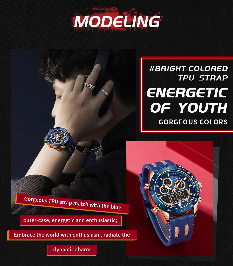 Naviforce 9188 Rubber Belt Sport Watch 5