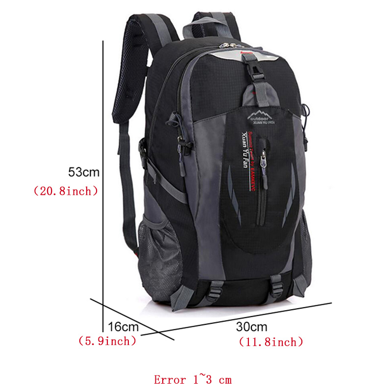 Image 4 - New Men Nylon Travel Backpack Large Capacity Camping Casual 