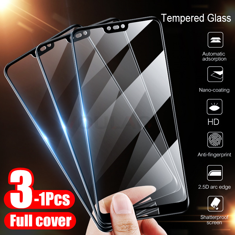 3-1Pcs Tempered Glass For Huawei <font><b>Honor</b></font> 8 10 <font><b>Lite</b></font> 20 Pro Screen Protector For Huawei <font><b>Honor</b></font> 8X <font><b>9</b></font> 20 <font><b>Lite</b></font> 10i 20i <font><b>Protective</b></font> Glass image