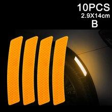 Newest 10pcs Car Door Sticker Decal Warning Tape Reflective Strip
