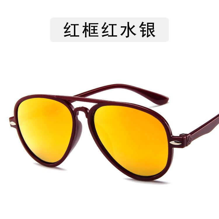 Moda meninos óculos de sol crianças estilo aviação óculos de sol design da marca 100% óculos proteção uv