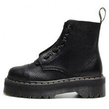 SINCLAIR-Botas de piel auténtica de Marta para mujer, botines de plataforma con forro de tobillo, botines de mujer informales gruesos, gran oferta