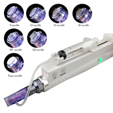 Aqua derma Pen Electric Microneedling Pen rechargable MTS Function Mesotherapy mesogun injector