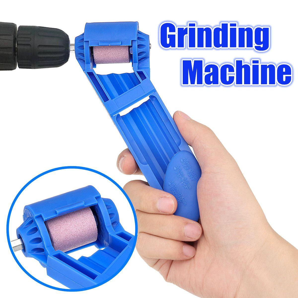 Portable 2 12.5mm Grinding Wheel Drilling Machine Drill Bit Sharpener Corundum ed Tool for Drill Polishing|Grinding Machine| |  - title=