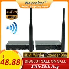 Navceker ZY DT211W אלחוטי HDMI וידאו טלוויזיה משדר מקלט WIFI 60m אלחוטי HDMI Extender HD אלחוטי שידור מערכת