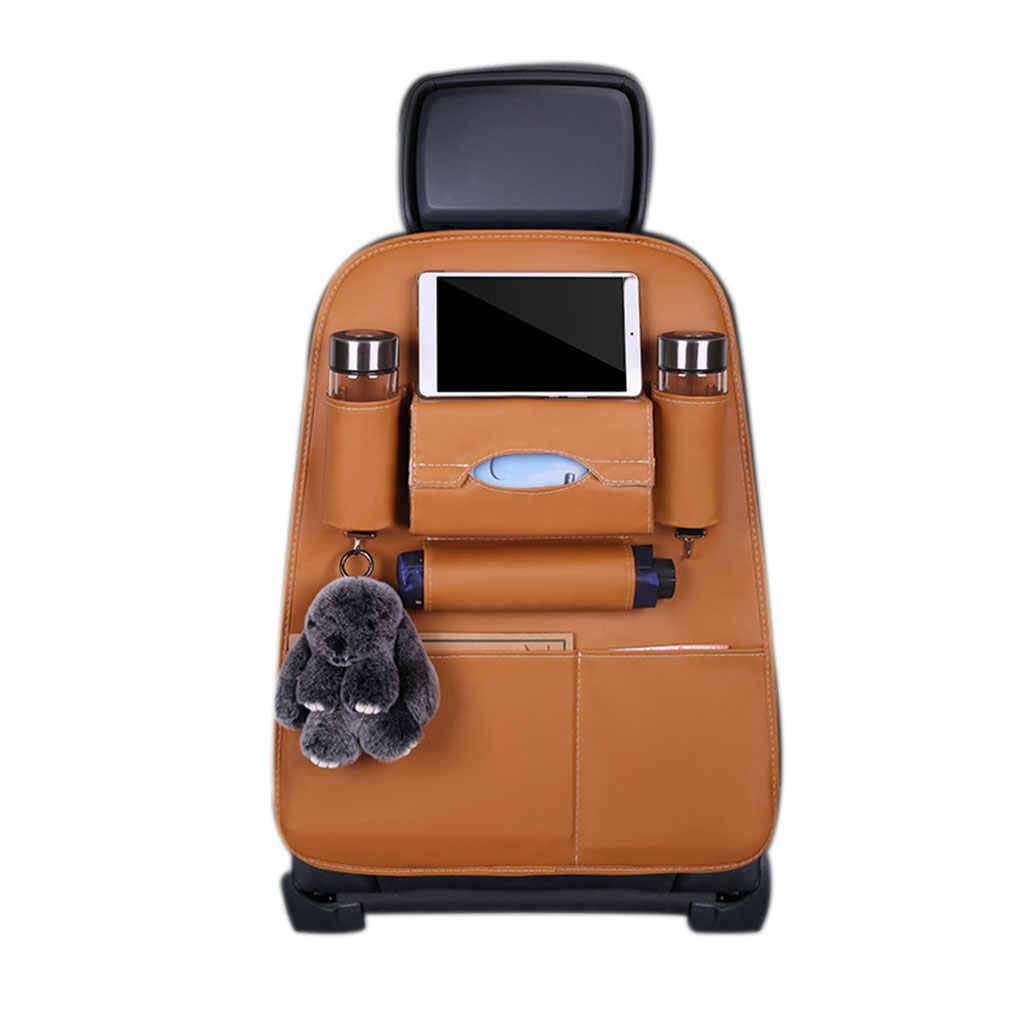 ที่นั่งอัตโนมัติเก้าอี้รถโทรศัพท์แท็บเล็ตดื่มขวดผู้ถือกระเป๋าเก็บกระเป๋า