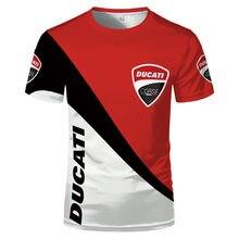 2021 mais recente ducati logotipo t-camisa 3d impressão esportes camiseta superior de alta qualidade verão dos homens de grandes dimensões da motocicleta do esporte camiseta