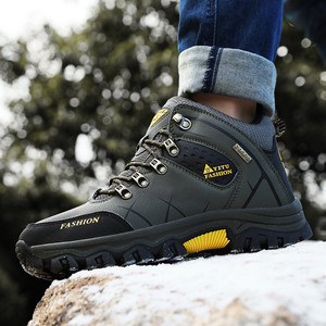 Image 5 - Men Winter Snow Boots Super Warm Men Hiking Boots High Quality Waterproof Leather Sneakers Outdoor Non slip Men Work Shoes 39 47