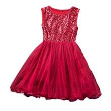 купить Brand New Summer Fashion Kids Dresses for Girls Sleeveless O-neck Cute Sequin Mesh Girls Dress Princess Dress Birthday Gift дешево