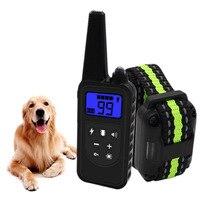 800m Hund Ausbildung Kragen Pet Elektrische Fernbedienung Wasserdicht Aufladbare LCD Display für Alle Größe Schock Vibration Sound