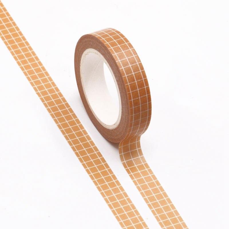 NEW 10pcs/lot Decorative Orange Grid Japanese Washi Tapes Paper DIY Scrapbooking Planner Adhesive Masking Tape Kawaii Stationery