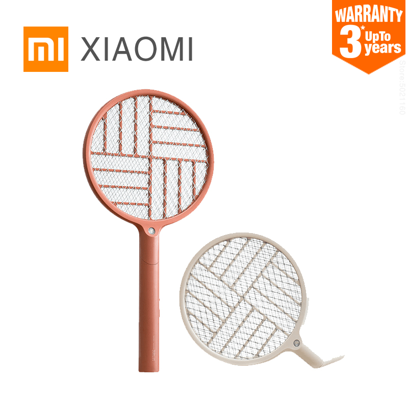 XIAOMI MIJIA Electric mosquito racket SOTHING Foldable Mosquito lamp USB rechargeable Handheld fly killer Swatter home product(China)